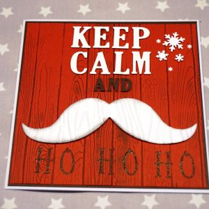 Weihnachtskarte Santabart (2)