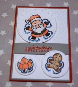 Weihnachtskarte Schneeengel (2)