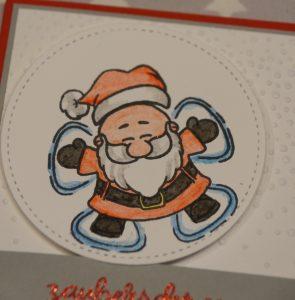 Weihnachtskarte Schneeengel (3)